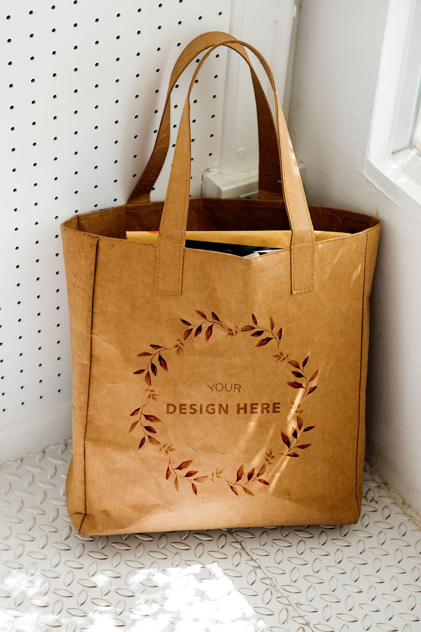 Download Leafy Frame On A Tote Bag Mockup Illustration Premium Image By Rawpixel Com Adj Tote Bag Canvas Design Bags Brown Tote Bag
