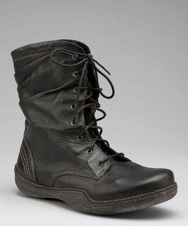 Take a look at this (i LOVE this)Black Jenna Boot - Women by Sanita on #zulily today!
