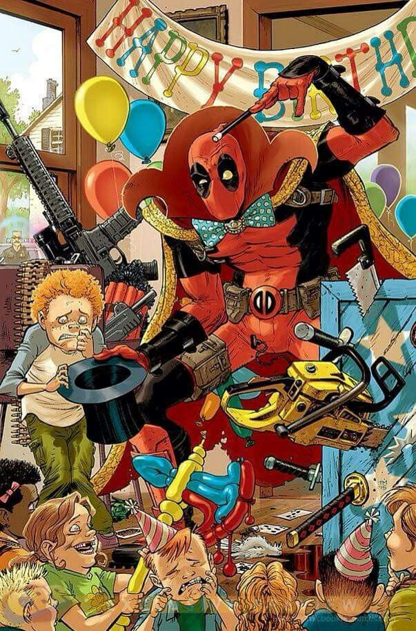 Deadpool wish you a very happy birthday buddies! Marvel