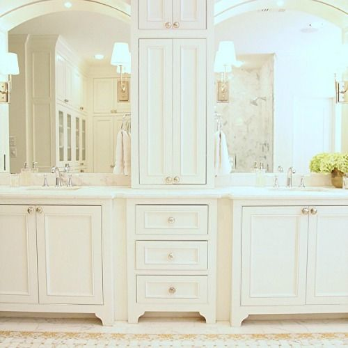 Love The Idea Of The Two Sinks In The Master Bathroom Divided This Way The House That Ari