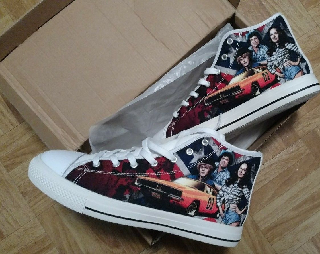 General Lee Bo Duke Converse Sneakers