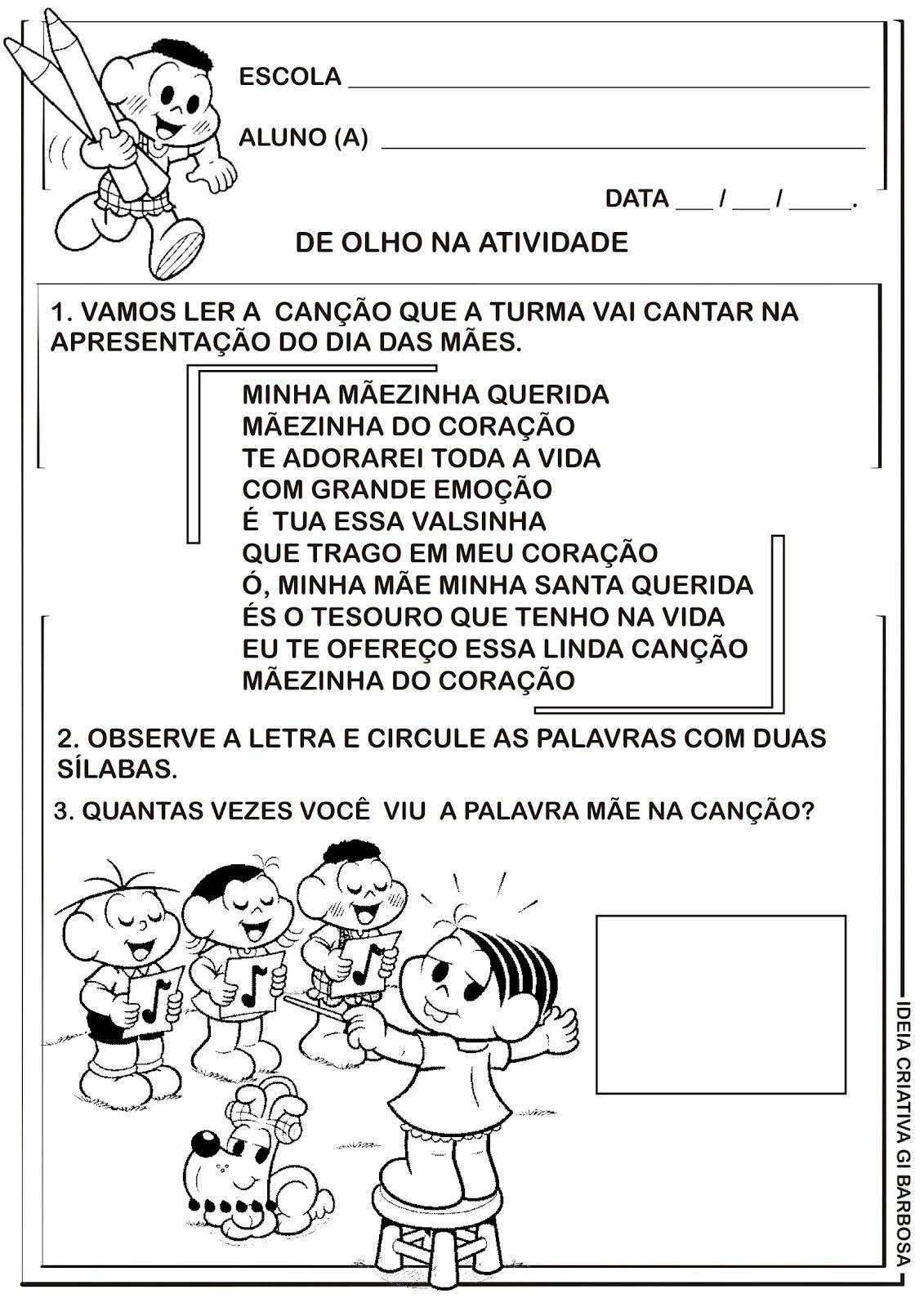 Atividade Dia Das Maes Silabas Atividades Do Dia Das Maes