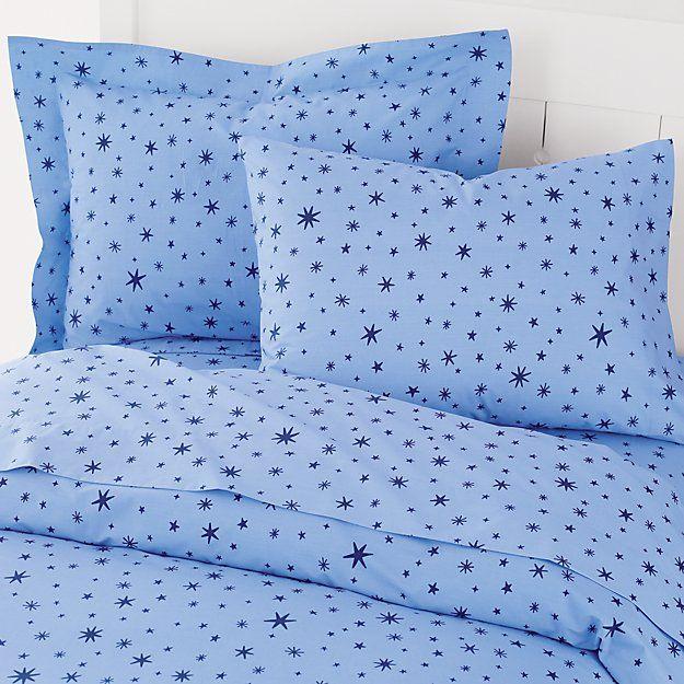 Kids Bedding Blue Stars Duvet Cover The Land Of Nod Duvet Covers Star Bedding Baby Bedding Sets
