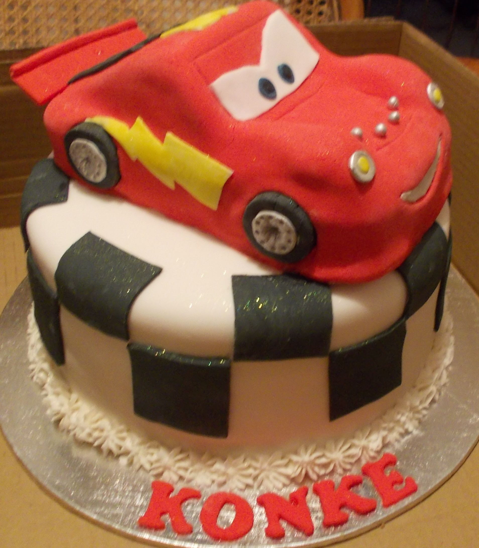 cars themed novelty cake...made by lerrin@sweetart