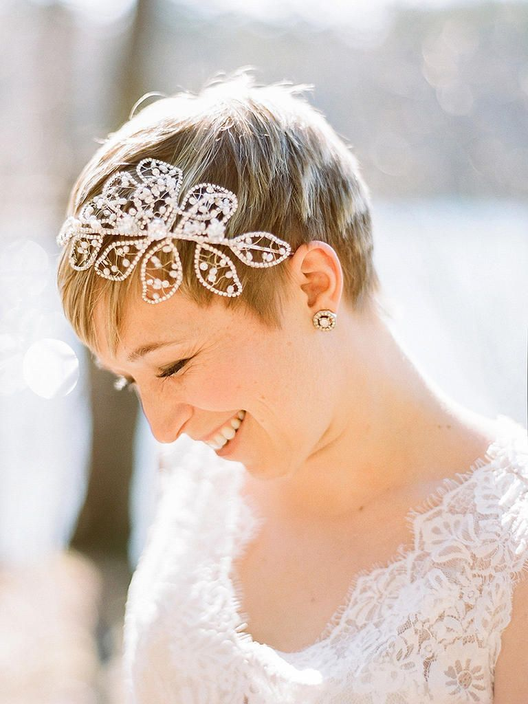 12 Stunning Wedding Hairstyles for Short Hair  Pixie wedding hair