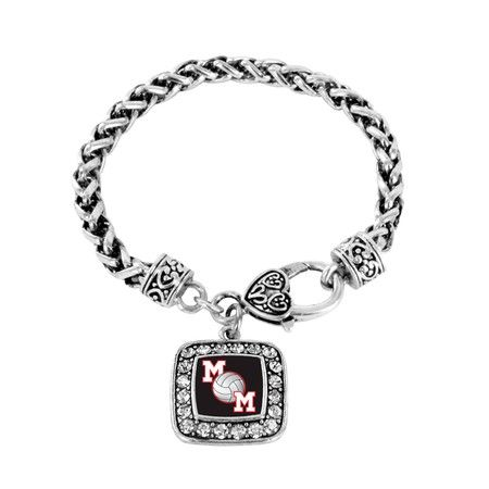 Volleyball Mom Braided Charm Bracelet!  #Bracelet #New #InspiredSilver #CharmBracelet #Volleyball