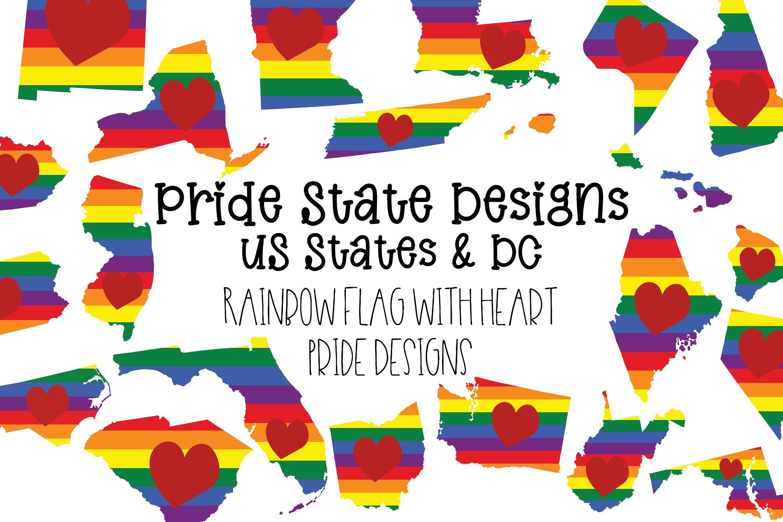 United States Pride Bundle 50 Us States Plus Dc Pride Flag Etsy In 2020 Inspirational Cards Scrapbook Printable Designs