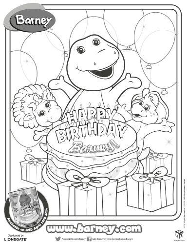 Happy Birthday Barney Printable Coloring Page Sweeps4bloggers Birthday Coloring Pages Happy Birthday Coloring Pages Barney Birthday Party