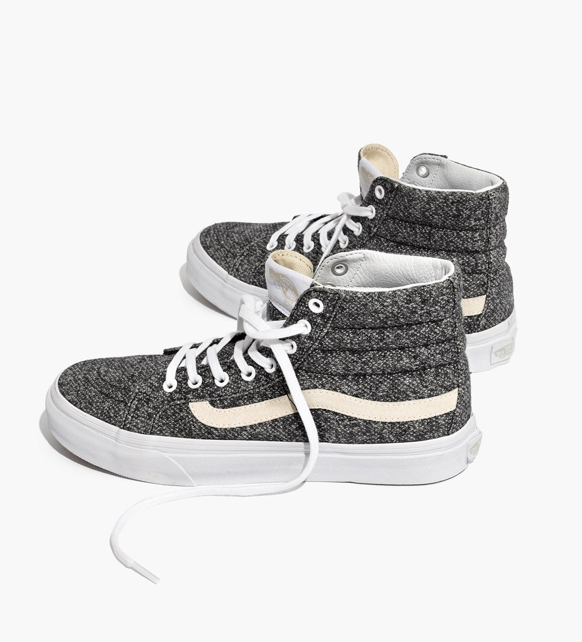 df6e44b95a1016 Madewell Womens Vans Unisex Sk8-Hi High-Top Sneakers In Marled Fabric