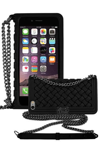 buy online 22f43 794de Dressier Braid Purse Wallet Design Case for iPhone 6 Plus 5.5 BLACK ...