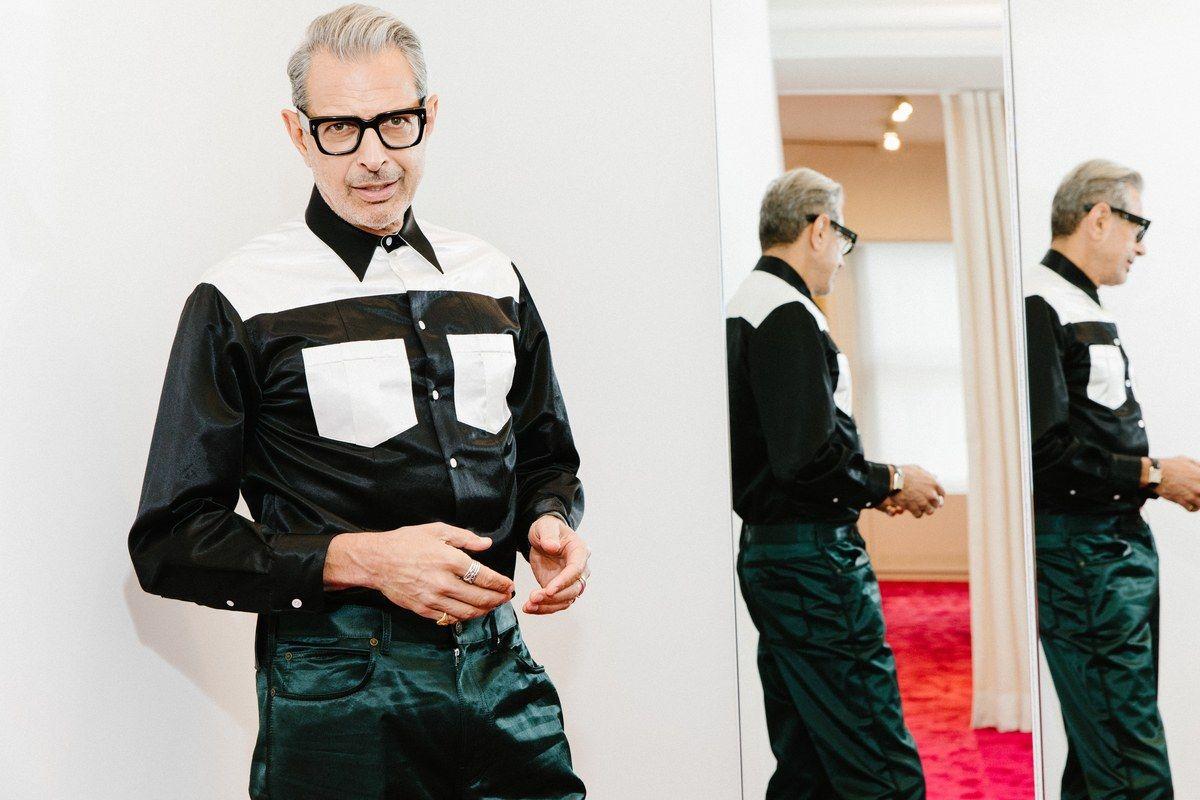 We Got Dressed With Jeff Goldblum Gq Get Dressed Calvin Klein 205w39nyc