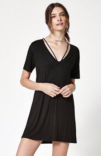 V-Strap T-Shirt Dress