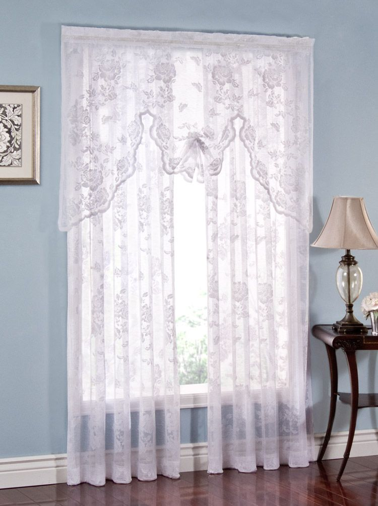 Abbey Rose Lace Curtains White Lorraine View All Curtains