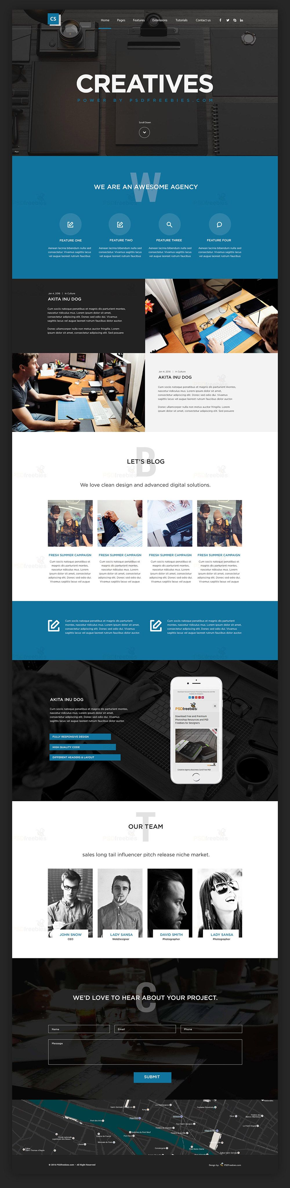 Creative digital agency website template free psd template and creative digital agencies website templates free psd set pronofoot35fo Gallery