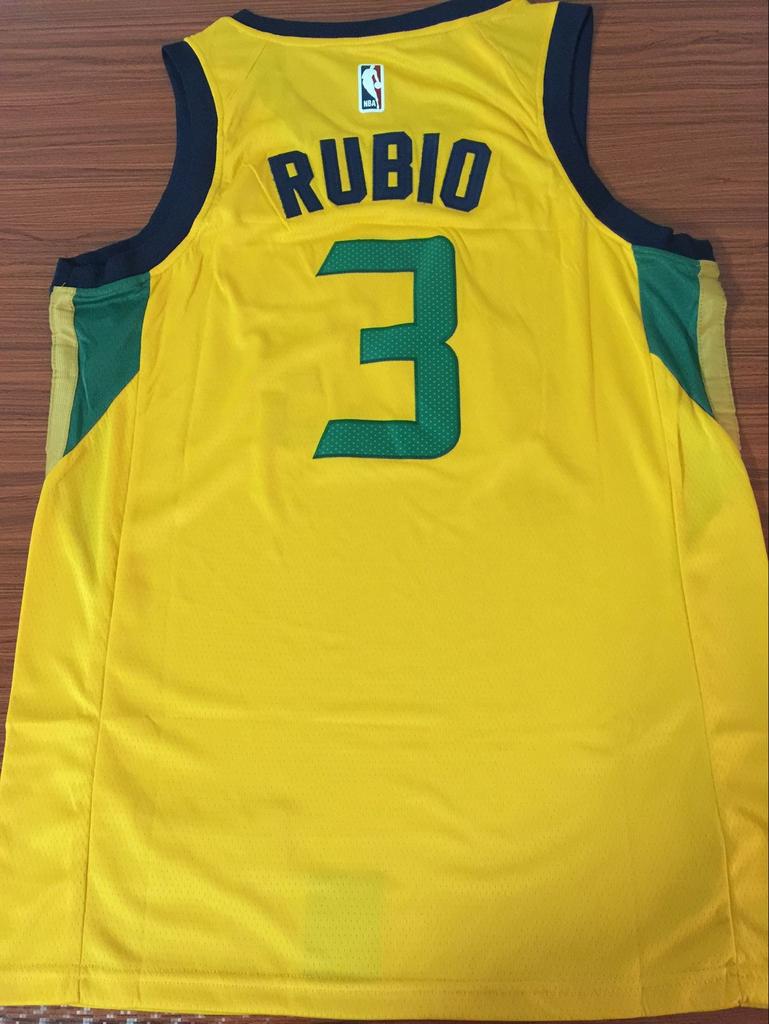 492225ad3 Men 3 Rubio Jazz Jersey Yellow Utah Jazz Swingman Fanatics