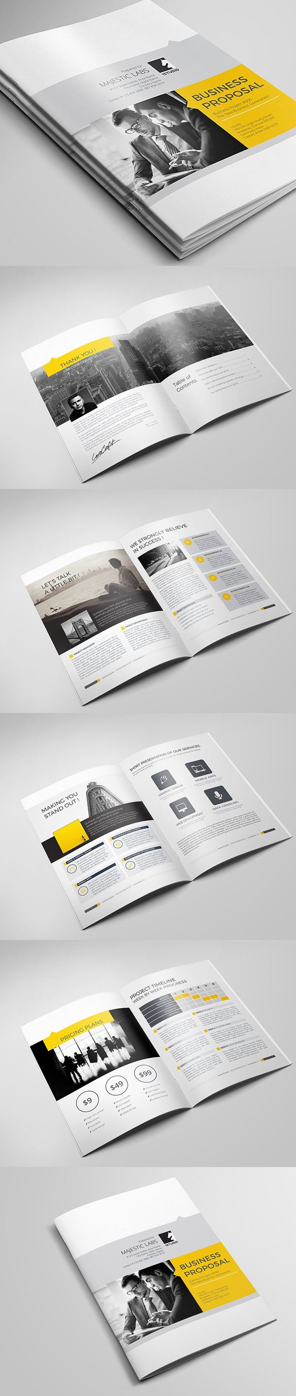 Business Proposal Brochure Template  Design Inspiration