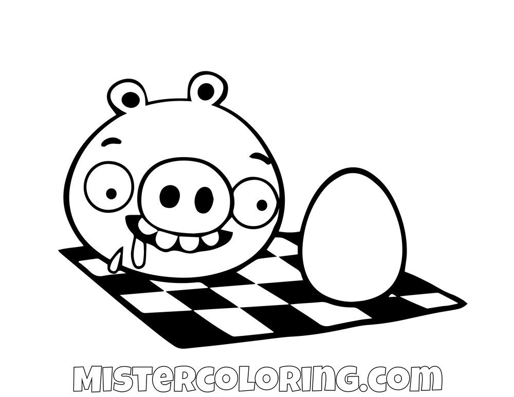 Pig Eating An Egg Angry Birds Coloring Pages Bird Coloring Pages Coloring Pages Coloring Pages For Kids