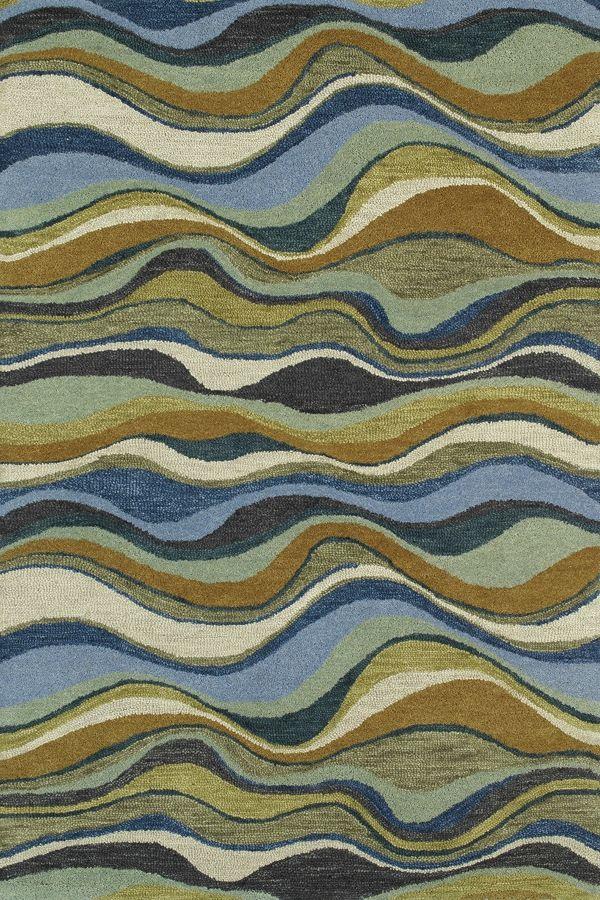 Kaleen Casual Alder Blue (17) Area Rugs