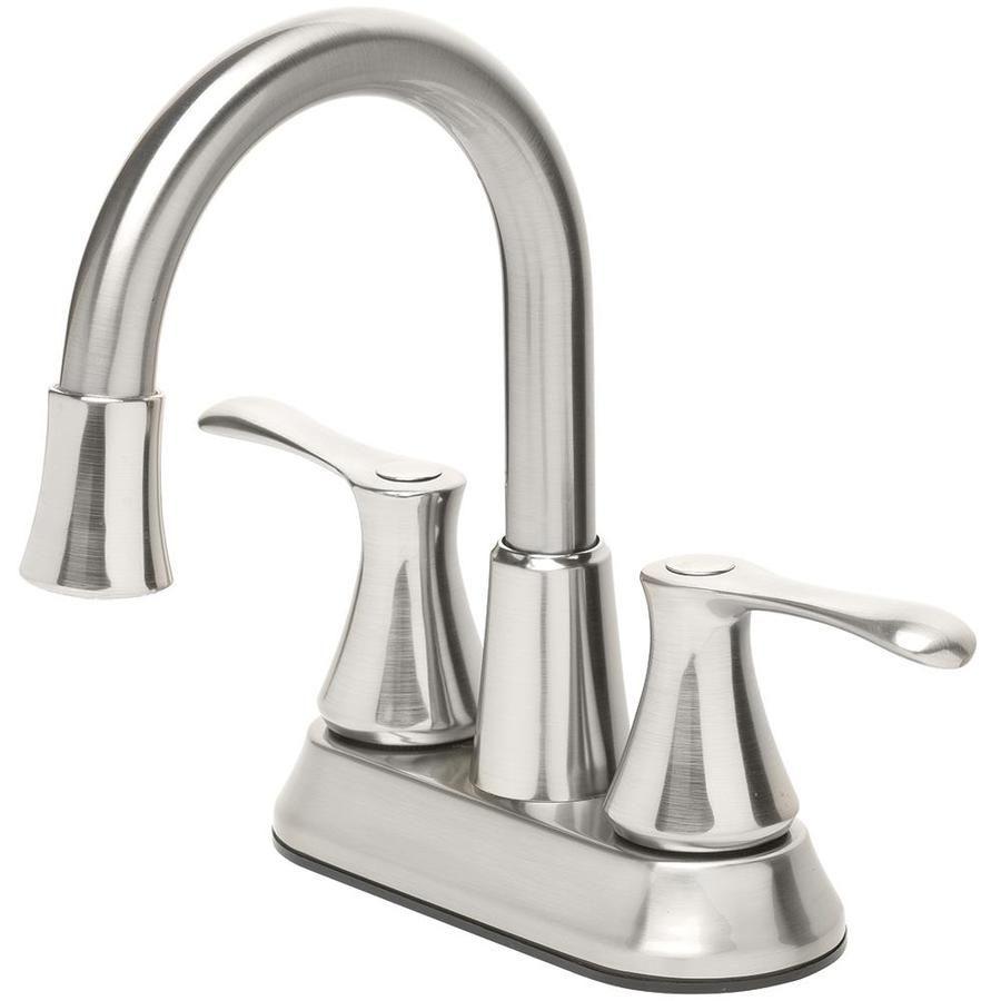 Homewerks Worldwide Led Aerator Brushed Nickel 2 Handle 4 In Centerset Watersense Bathroom Sink Faucet With Drain Lowes Com Sink Faucets Water Sense Faucet Aerator [ jpg ]