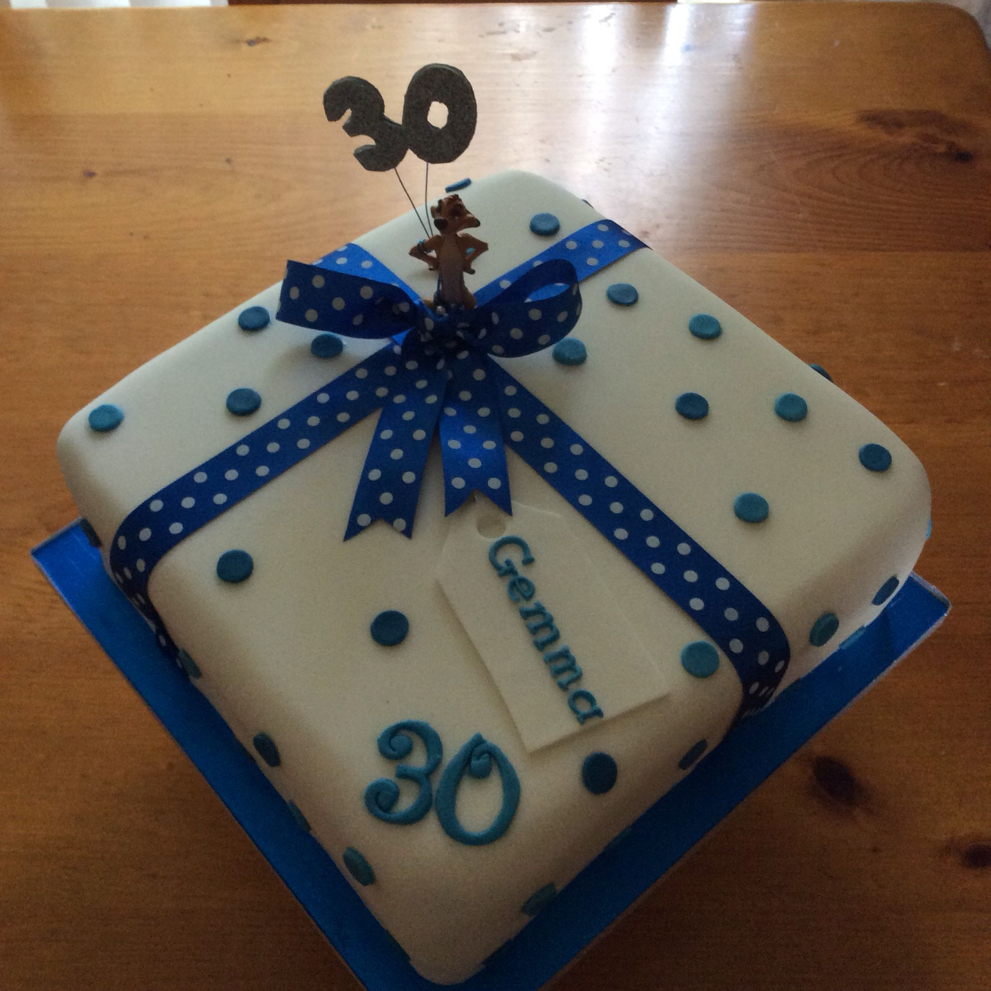 30th birthday parcel cake complete with timone buy