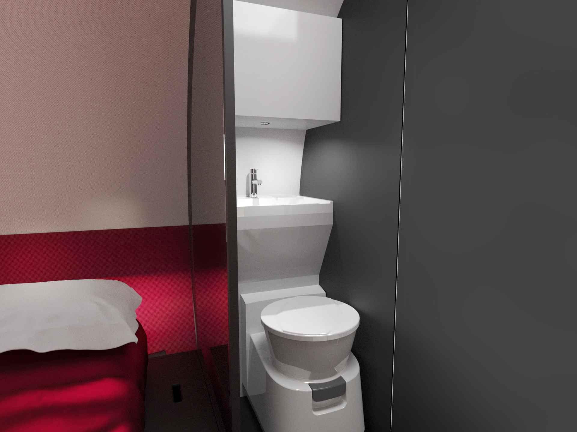 toilettes/douche camping aménagée, Camion
