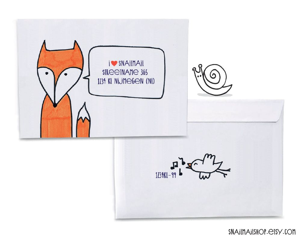 Handmade Drawing Envelopes Great For Cute Snailmail Create Your