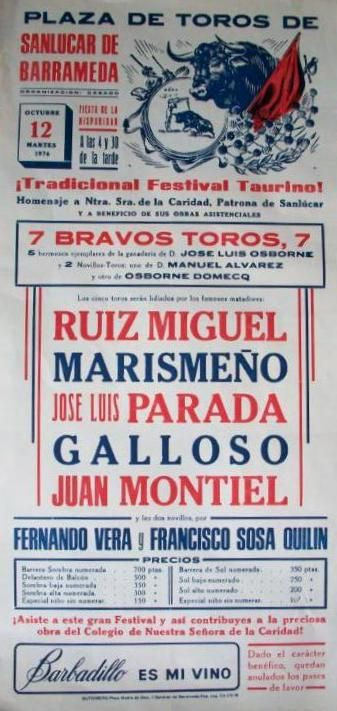 SAN LUCAR DE BARRAMEDA (Cádiz - 1974)