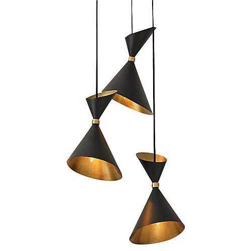 615 Dwell Cone Pendant Bronze Mid Century Modern Chandelier Brass Pendant Light Mid Century Lighting Pendant