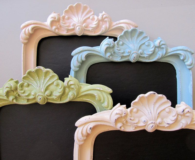 FRAMED CHALKBOARD Shabby Chic Nursery Pastel Chalk by ShugabeeLane, $34.00