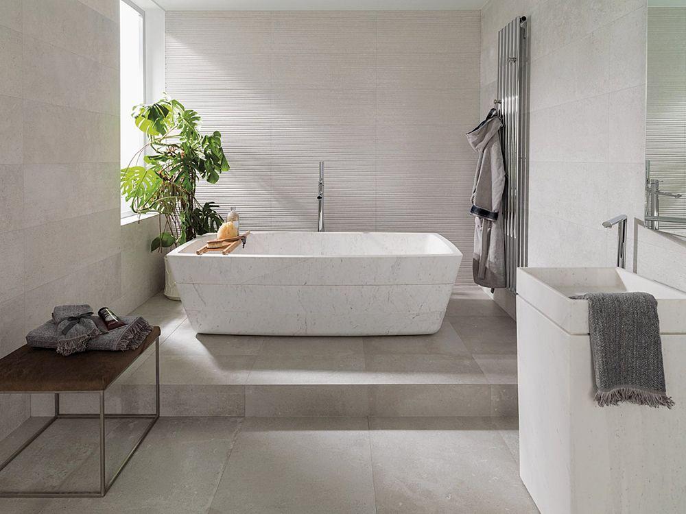 Dover Modern Line Caliza,Wall Tiles Valencia bathrooms - badideen modern