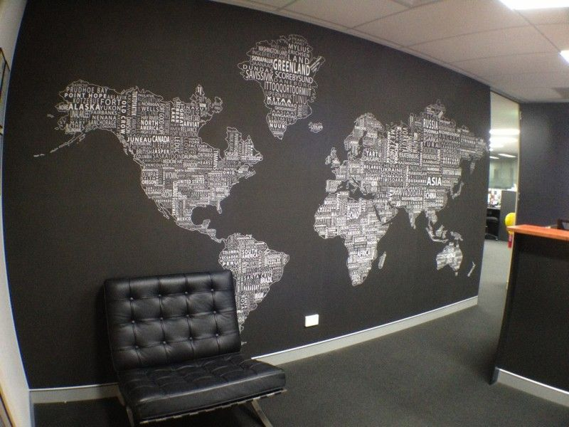 World Map Wall Decor decorating, world map wall decor for modern office design with