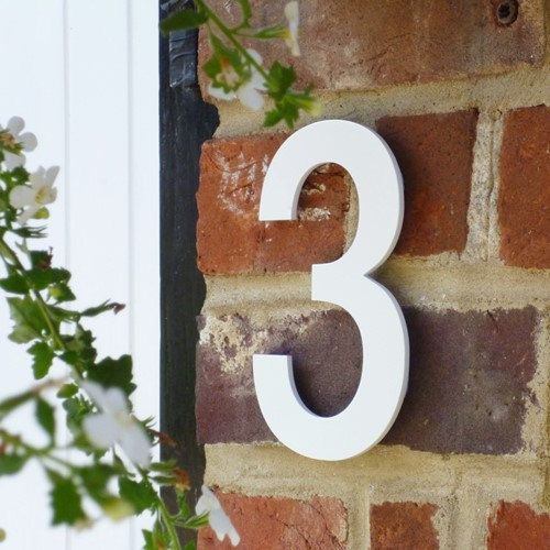 White House Numbers Unique House Number Helvetica House Etsy