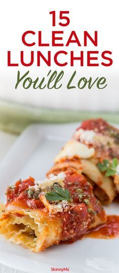 15 Clean Lunches You'll Love! #lunch #easy #recipes