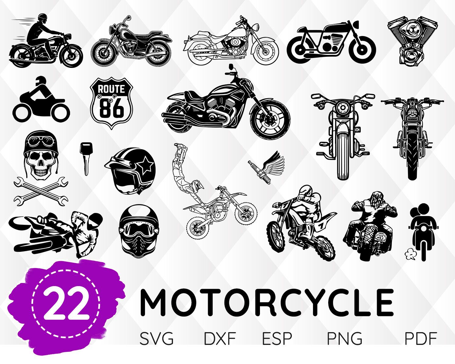 Pin On Motorcycle Svg