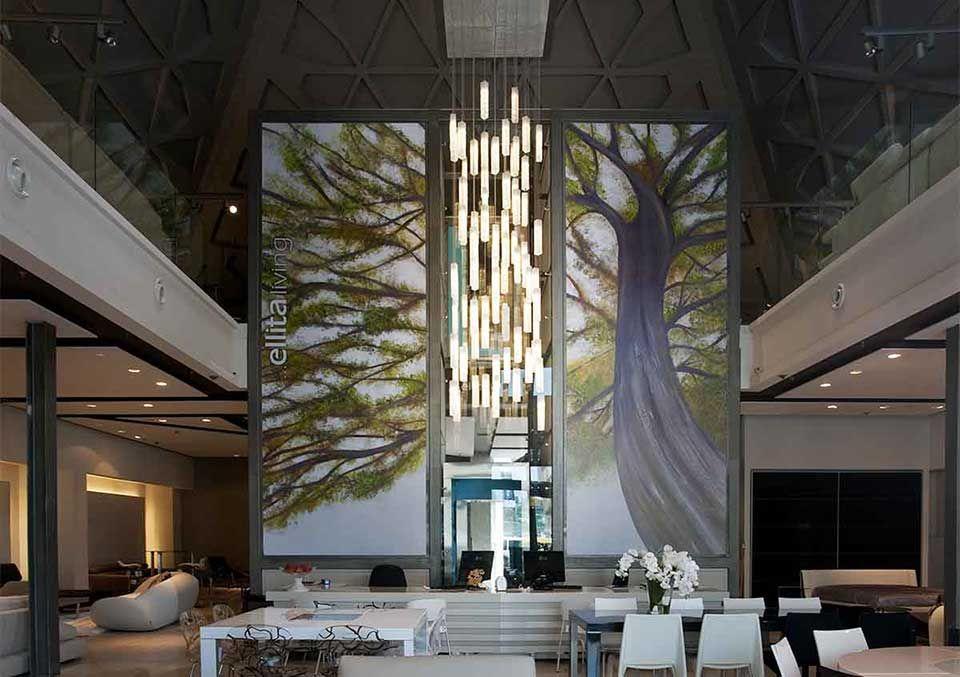 Tall Entry Lobby Chandelier Modern Lighting For Foyer High