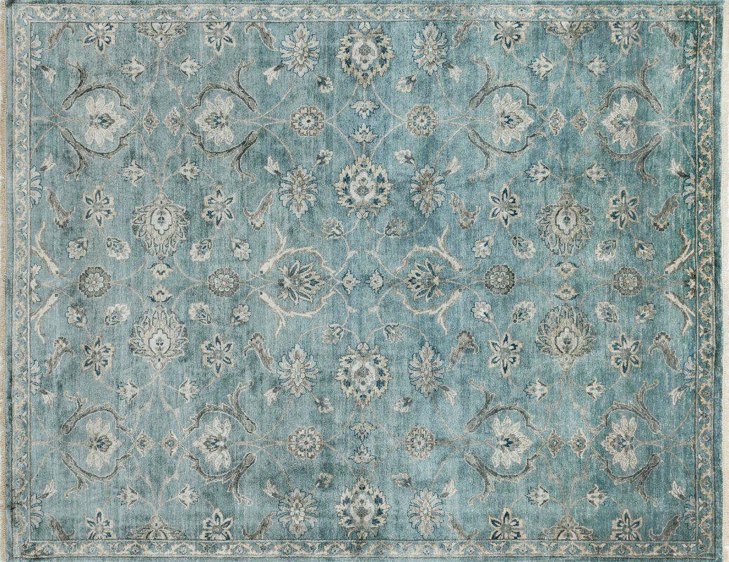 Kensington Persian Hand Woven Blue Area Rug Loloi 12x18 Area Rugs Blue Area Rugs Rugs