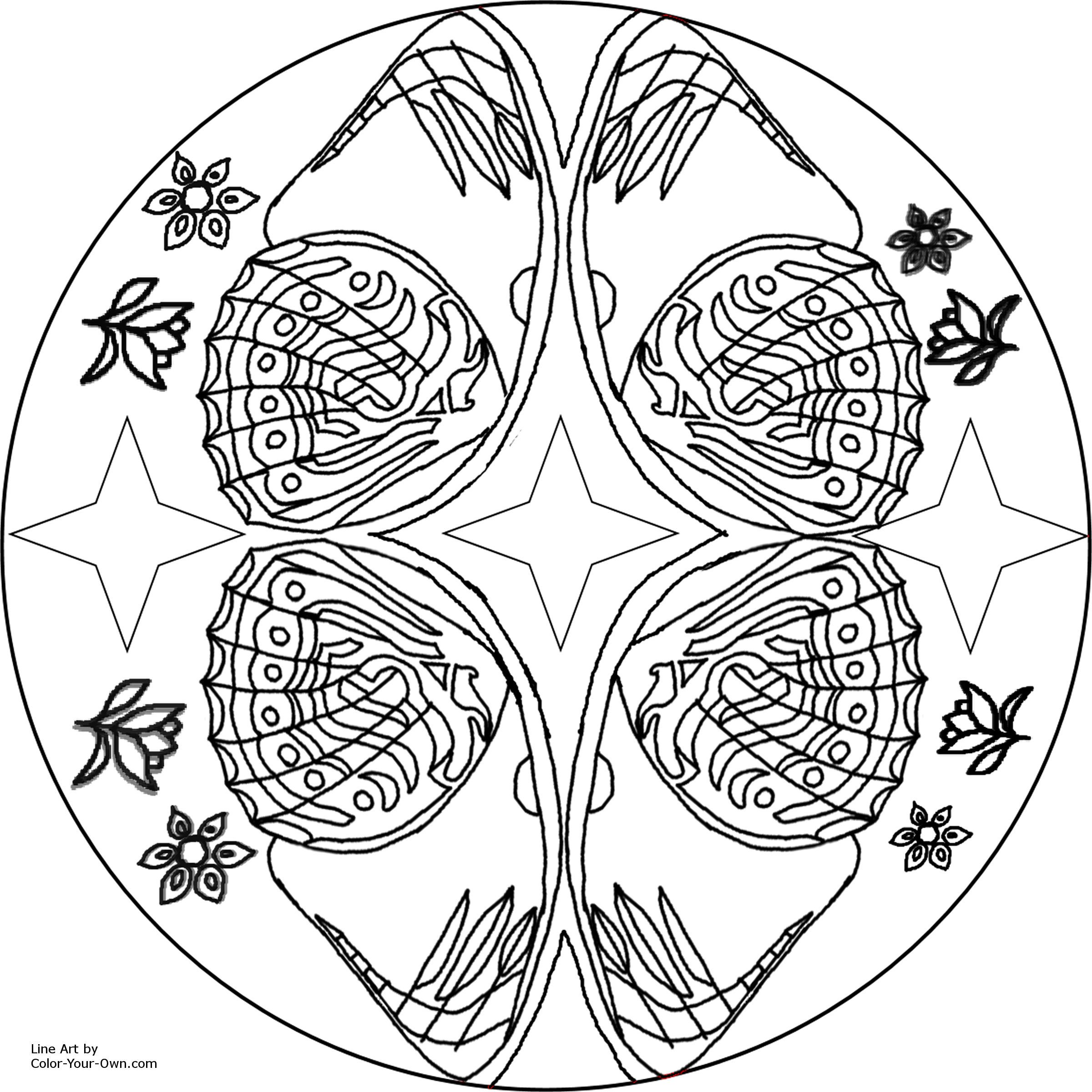 Free Printable Mandalas for Adults | ... Kids Printable Butterfly ...