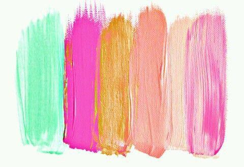 Art Boho Brush Strokes Colour Indie Paint Pretty Wallpaper