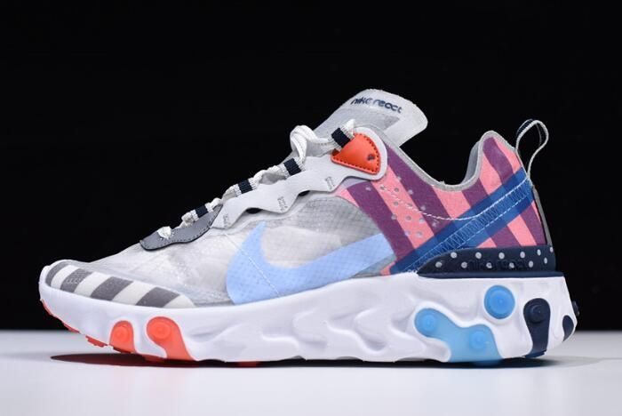 best loved f9132 3e831 2018 Off-White x Undercover x Nike React Element 87 White Cone Ice Blue For  Sale   Off white und off white Schuhe in 2019   Nike shoes, Sneakers und  Nike