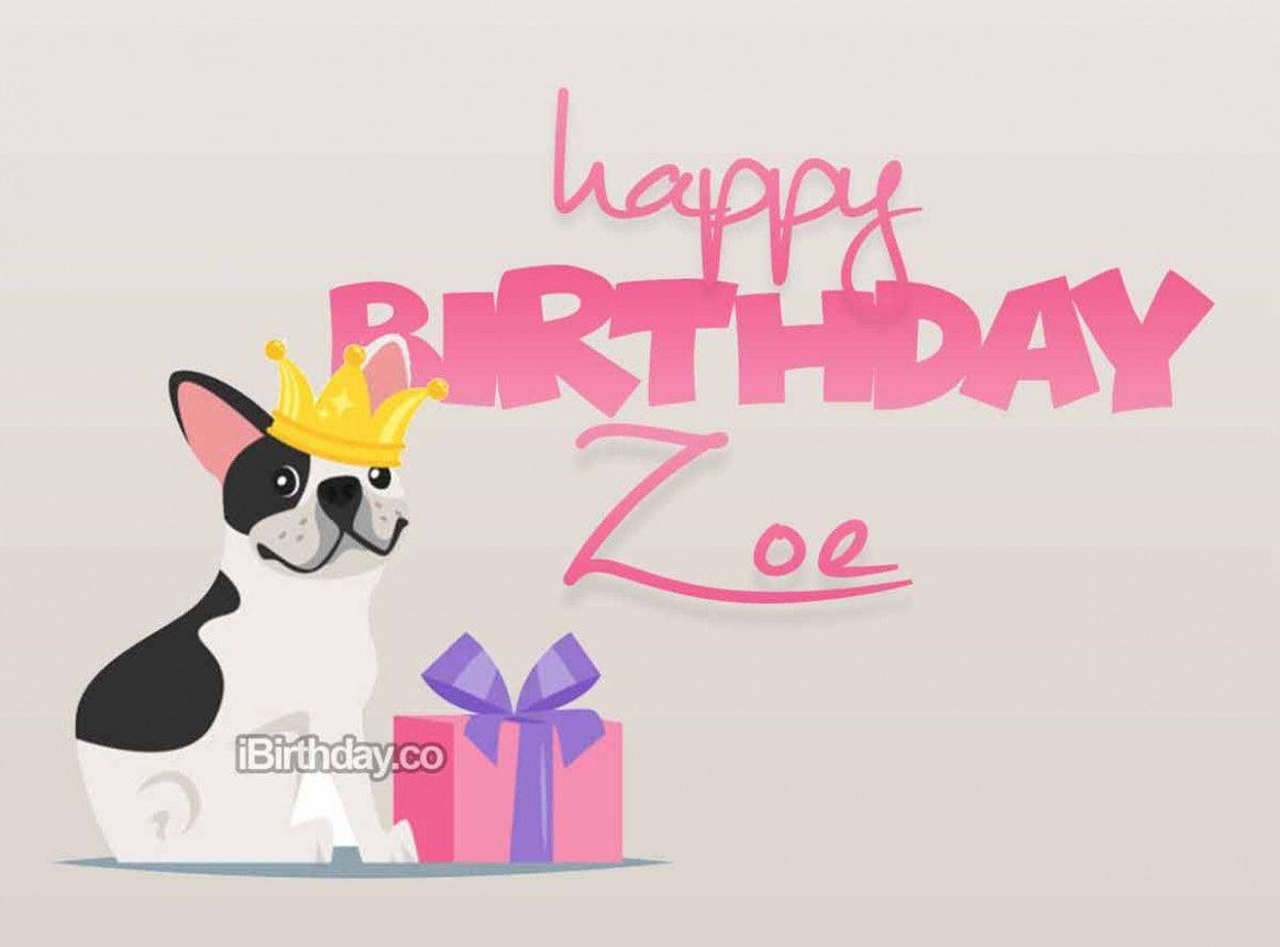 Happy Birthday Zoe Card