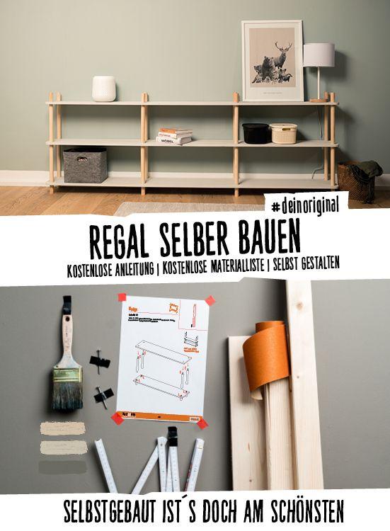Möbel selber bauen | Regal im skandinavischen Design