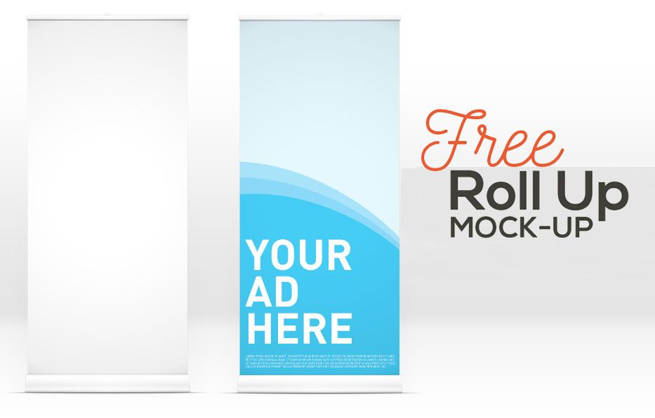 Free Roll Up Banner Mockup Psd For Advertisment Rollup Banner Mockup Free