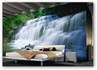 Resultados De La Búsqueda De Imágenes Paisajes Para Pintar En La Pared Paint Your House Waterfall Outdoor Bed