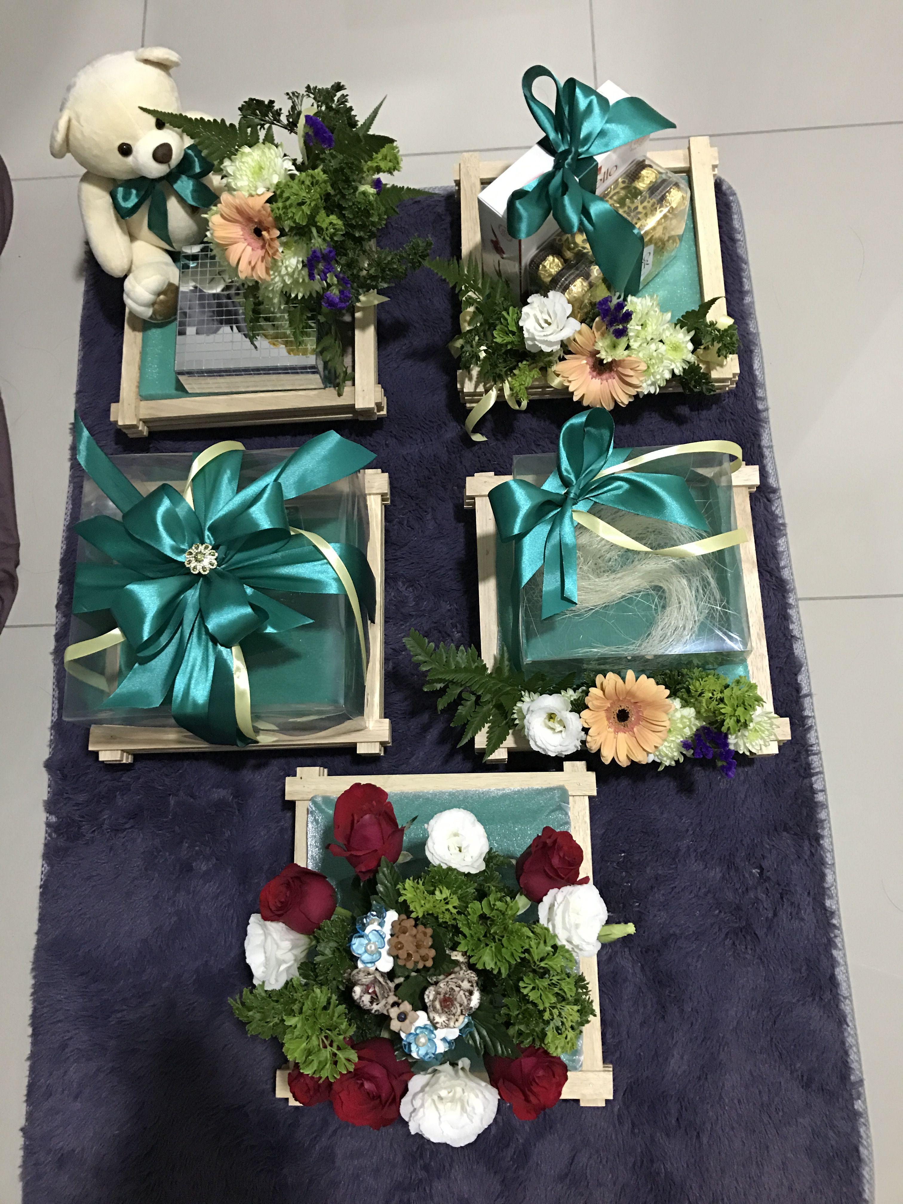 Hantaran Tunang Emerald Green Theme Wedding Gifts For