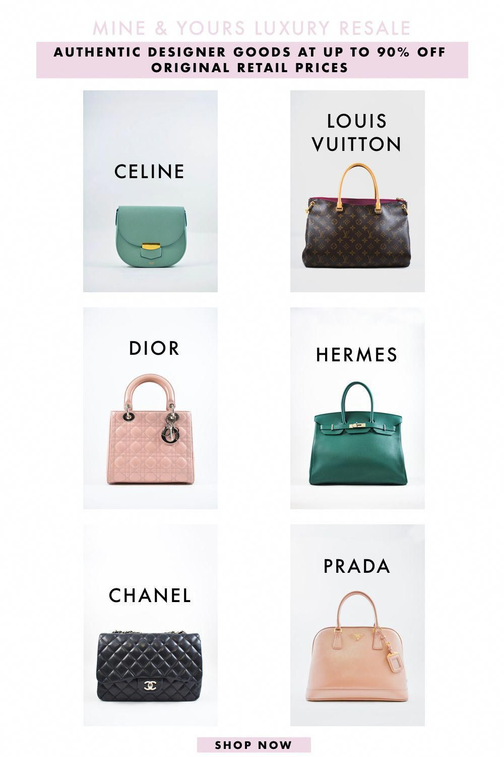 12bb7c5a8547c5 We specialize in pre-loved and consignment designer handbags at up to 80%  off the original retail price from brands like Chanel, Celine, Prada, ...