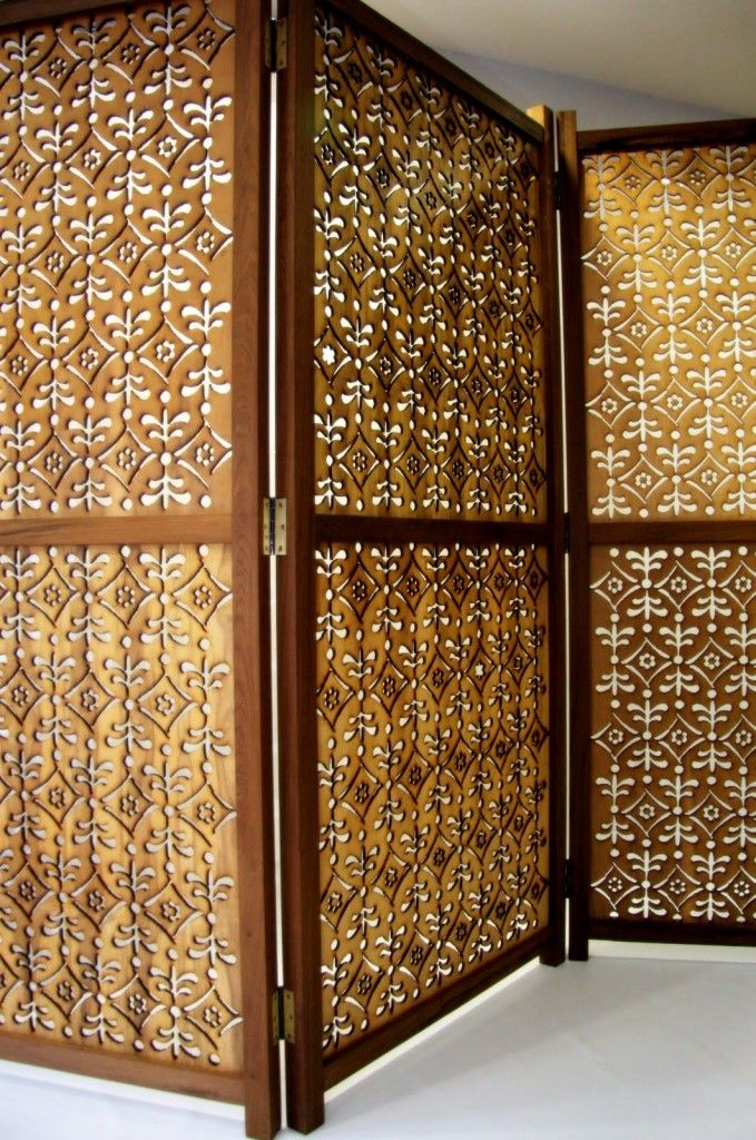 Biombo sala dividir ambientes puertas pinterest - Puertas de biombo ...