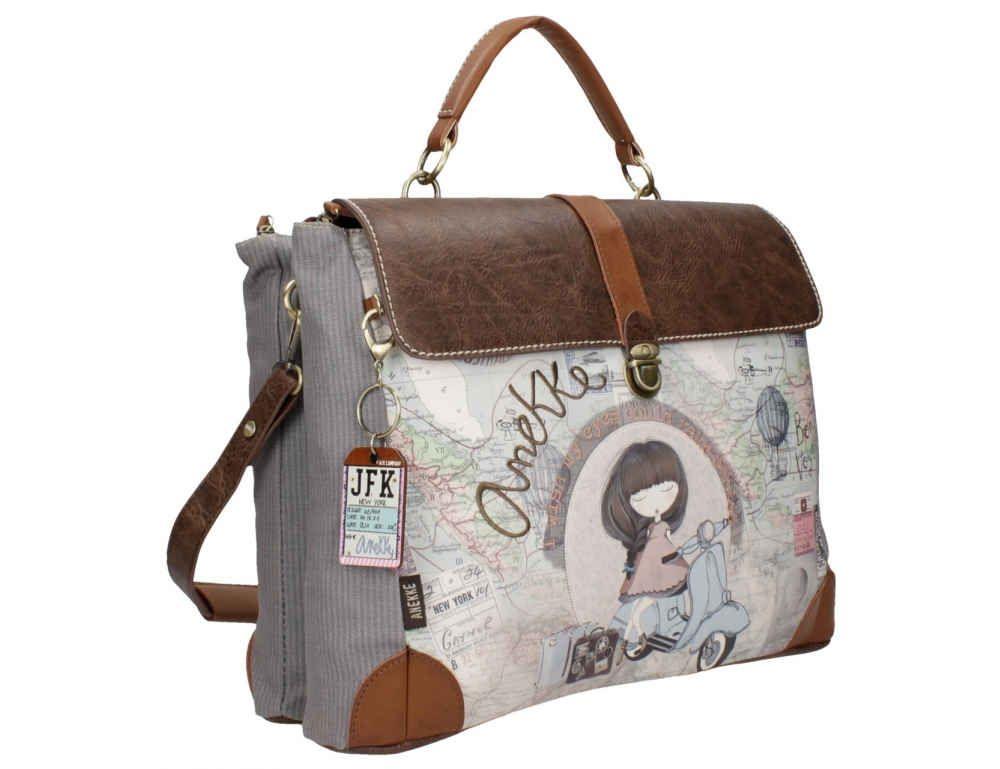 23f45082a82 Bolso portadocumentos, maletín con motivos de mapa antiguo, estilo vintage,  detalles dorados, compra online, bolsos Anekke, bolsos mujer, ideales para  ...