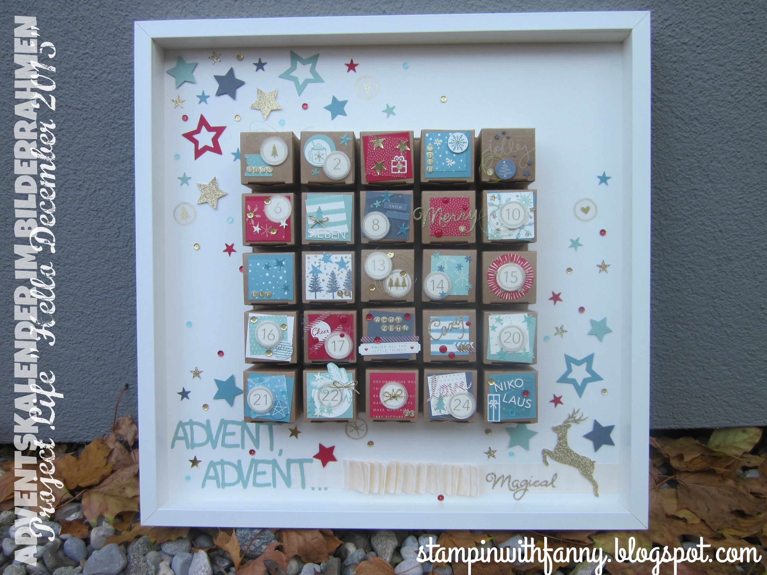 stampin up stampinwithfanny adventskalender advent calender project ...