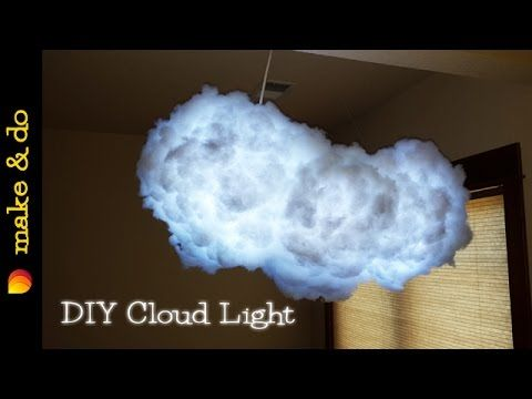 Diy Color Changing Cloud Light How To Make It Youtube Diy Clouds Cloud Lamp Diy Cloud Lights