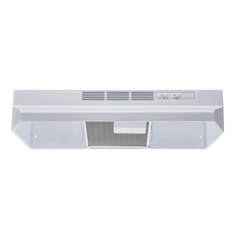 Winflo 30 In Ductless Non Ducted Under Cabinet Range Hood In White With Mesh Charcoal Filter Ur201v30w The Home Depot Under Cabinet Range Hoods Range Hood Charcoal Filter